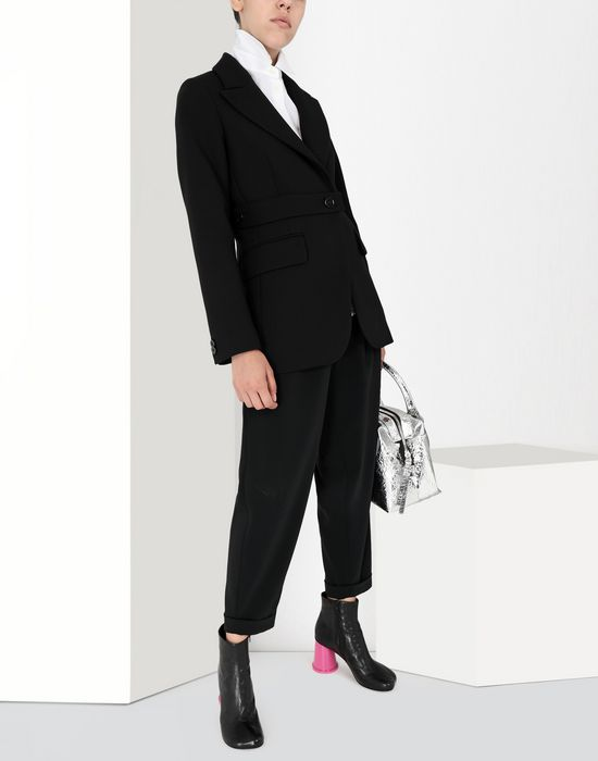 MM6 MAISON MARGIELA Wool tailored jacket with tabs Blazer [*** pickupInStoreShipping_info ***] r