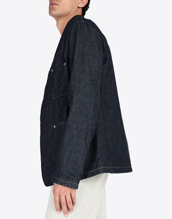 MAISON MARGIELA Collarless denim jacket Blazer [*** pickupInStoreShippingNotGuaranteed_info ***] a