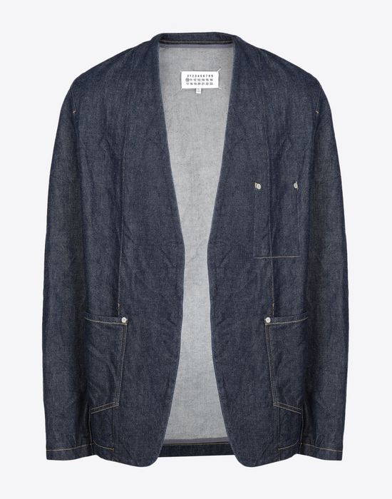 MAISON MARGIELA Collarless denim jacket Blazer [*** pickupInStoreShippingNotGuaranteed_info ***] f