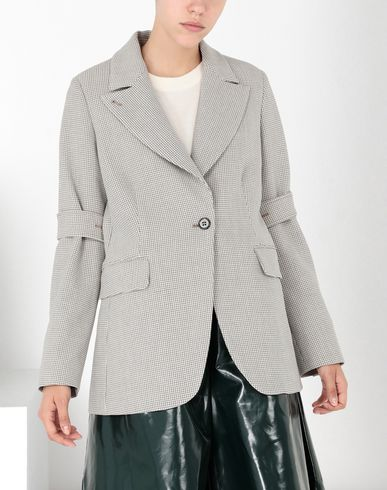 MM6 MAISON MARGIELA Blazer Woman Jersey tailored jacket with tabs f