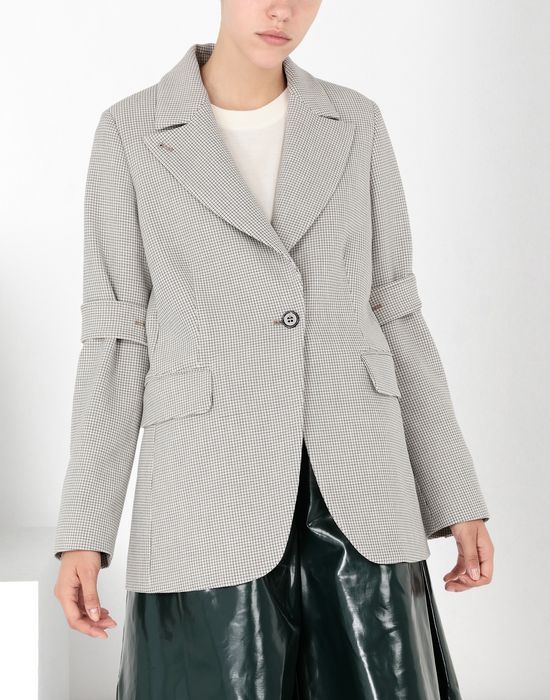 MM6 MAISON MARGIELA Jersey tailored jacket with tabs Blazer [*** pickupInStoreShipping_info ***] f