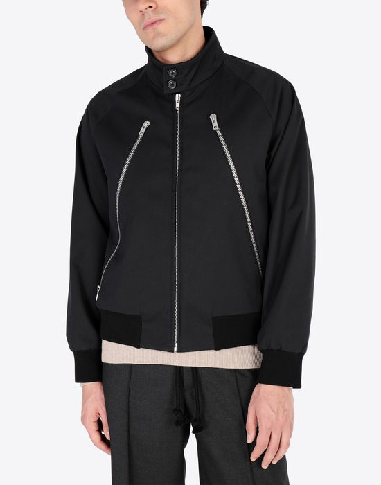 MAISON MARGIELA Two-tone sports jacket Jacket [*** pickupInStoreShippingNotGuaranteed_info ***] r