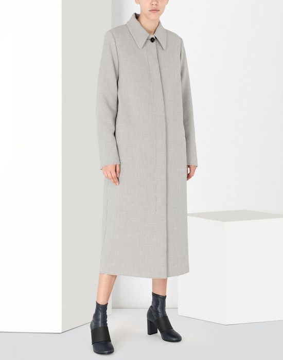 MM6 MAISON MARGIELA Long jersey coat Coat [*** pickupInStoreShipping_info ***] f