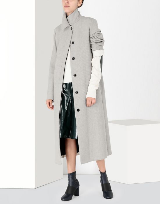 MM6 MAISON MARGIELA Long jersey coat Coat [*** pickupInStoreShipping_info ***] r