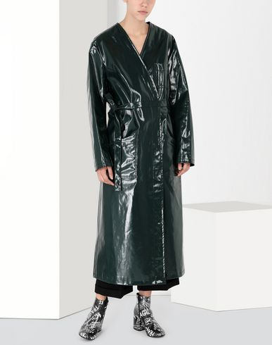 MM6 MAISON MARGIELA Coat Woman Laminated 'Blouse Blanche' f