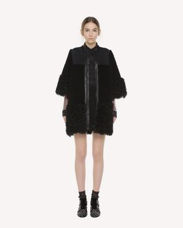 REDValentino Kalgan Fur detailed shearling jacket