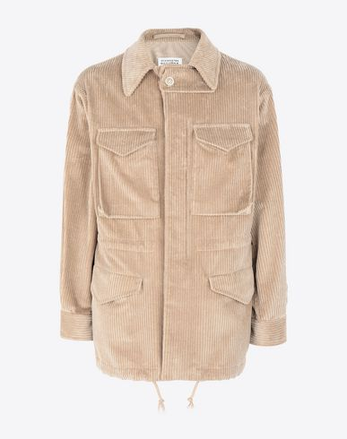 MAISON MARGIELA Mid-length jacket Man Chunky drawstring jacket f