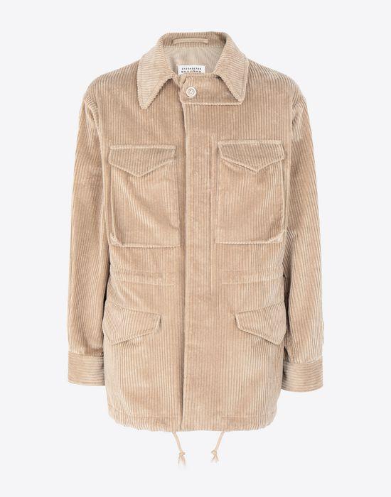 MAISON MARGIELA Chunky drawstring jacket Mid-length jacket [*** pickupInStoreShippingNotGuaranteed_info ***] f