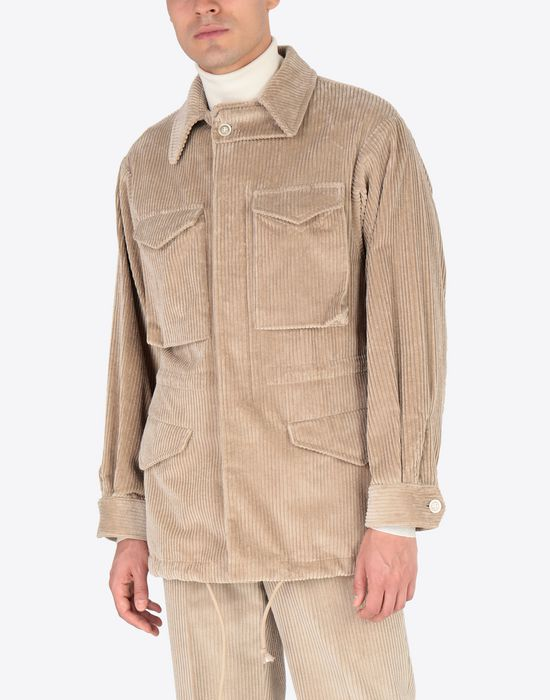MAISON MARGIELA Chunky drawstring jacket Mid-length jacket [*** pickupInStoreShippingNotGuaranteed_info ***] r