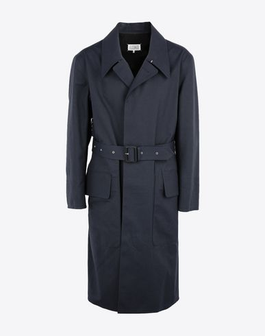 MAISON MARGIELA Raincoat Man Midnight blue 'Replica' trench coat f