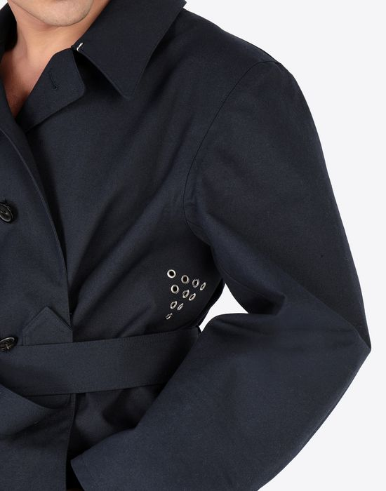 MAISON MARGIELA Midnight blue 'Replica' trench coat Raincoat [*** pickupInStoreShippingNotGuaranteed_info ***] a