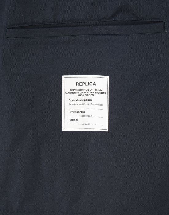 MAISON MARGIELA Midnight blue 'Replica' trench coat Raincoat [*** pickupInStoreShippingNotGuaranteed_info ***] b