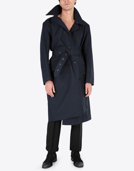 MAISON MARGIELA Midnight blue 'Replica' trench coat Raincoat [*** pickupInStoreShippingNotGuaranteed_info ***] r