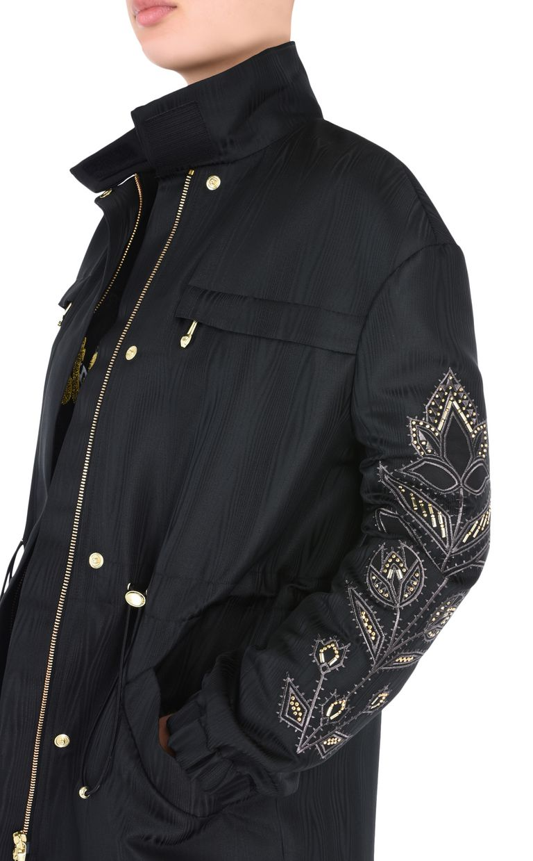 JUST CAVALLI Parka with embroidery details Jacket Woman e