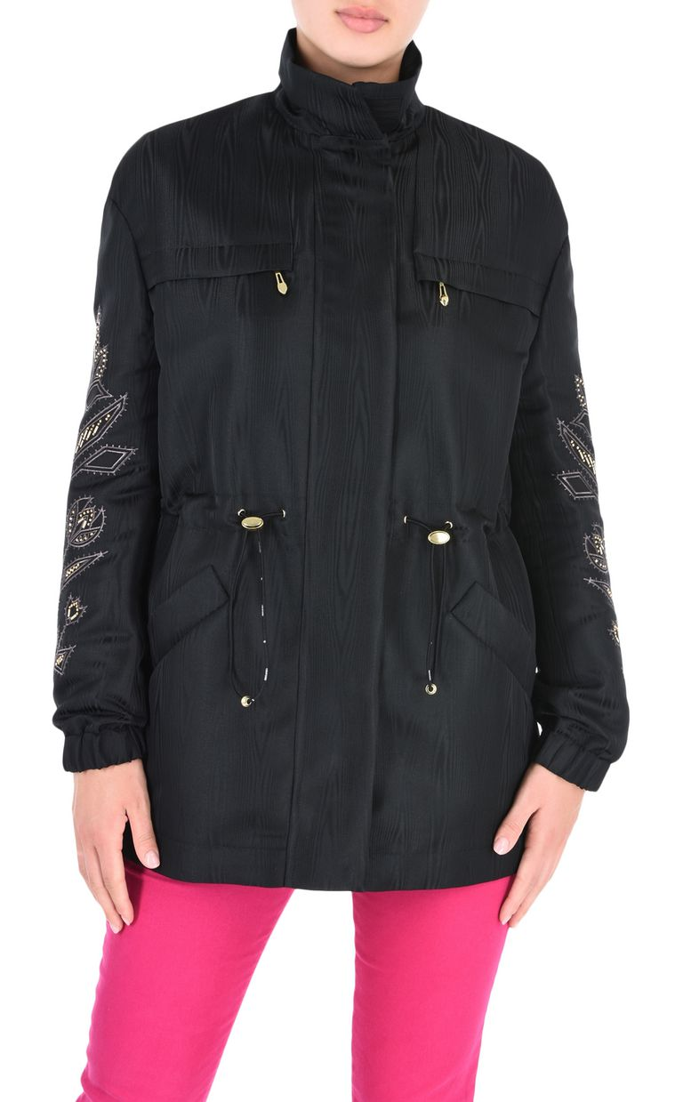 JUST CAVALLI Parka with embroidery details Jacket Woman f