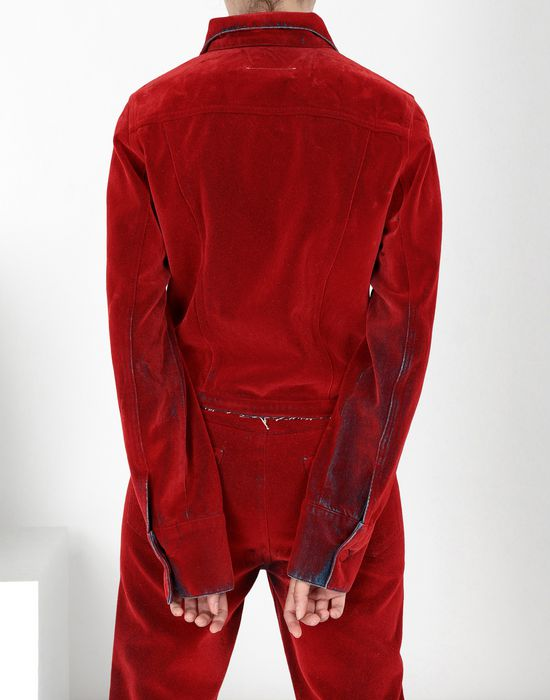 MM6 MAISON MARGIELA Flocked denim jacket Jacket [*** pickupInStoreShipping_info ***] d