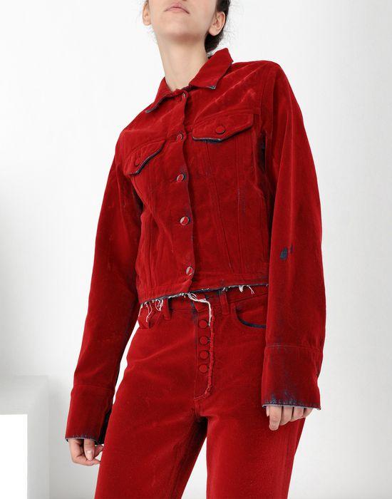 MM6 MAISON MARGIELA Flocked denim jacket Jacket [*** pickupInStoreShipping_info ***] e