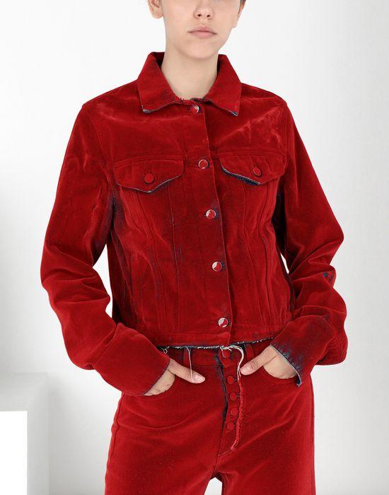 MM6 MAISON MARGIELA Flocked denim jacket Jacket [*** pickupInStoreShipping_info ***] f