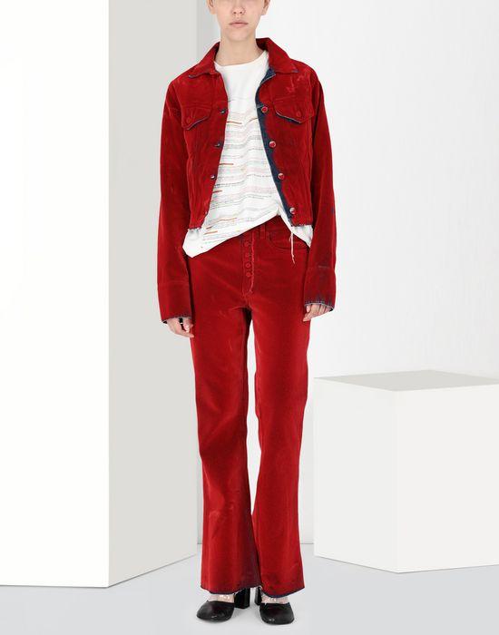 MM6 MAISON MARGIELA Flocked denim jacket Jacket [*** pickupInStoreShipping_info ***] r