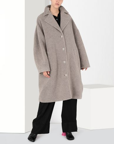 MM6 MAISON MARGIELA Manteau Cocon en jersey Manteau long Femme f