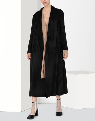 MM6 MAISON MARGIELA Coat Woman Long pinstripe coat f