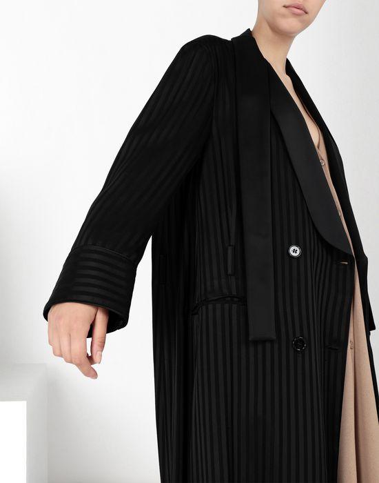 MM6 MAISON MARGIELA Long pinstripe coat Coat [*** pickupInStoreShipping_info ***] a