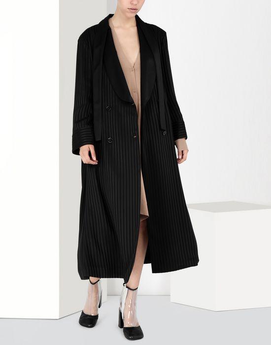 MM6 MAISON MARGIELA Long pinstripe coat Coat [*** pickupInStoreShipping_info ***] r