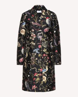 REDValentino Flora and fauna Brocade coat