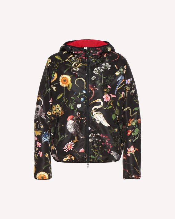 REDValentino Flora and Fauna Faille printed shell jacket