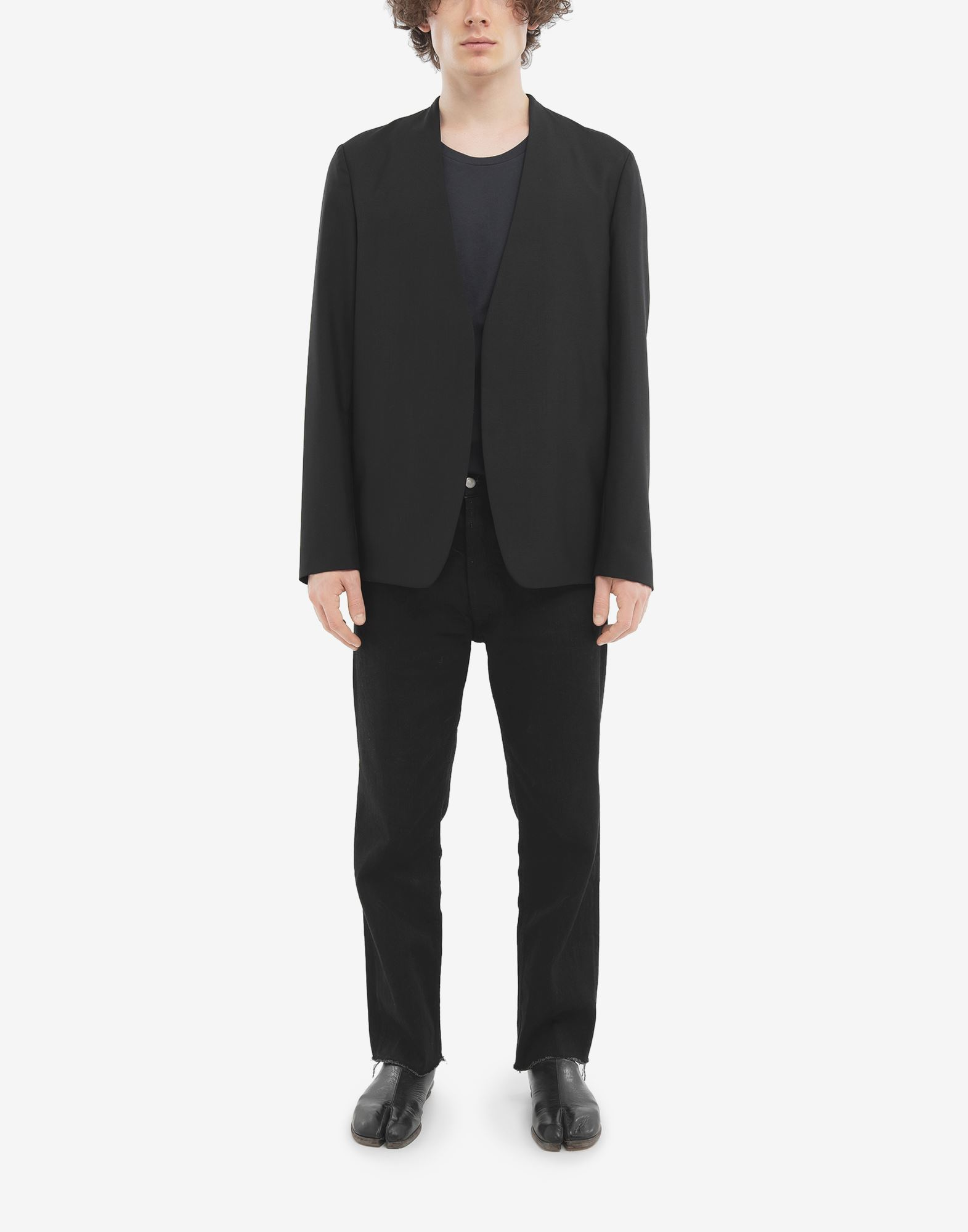 MAISON MARGIELA Collarless wool poplin jacket Blazer Man d