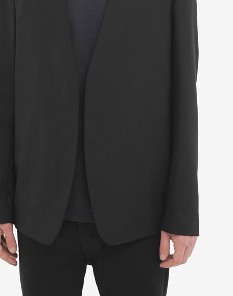MAISON MARGIELA Collarless wool poplin jacket Blazer Man a