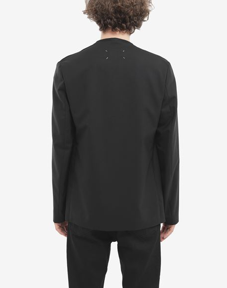 MAISON MARGIELA Collarless wool poplin jacket Blazer Man e
