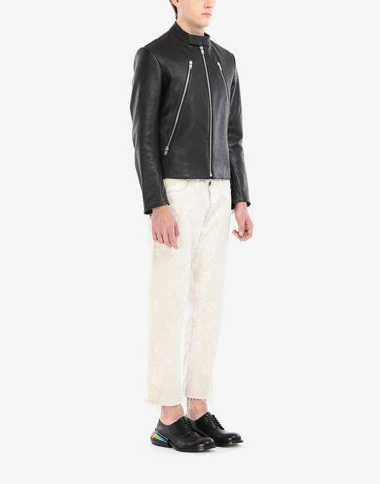 MAISON MARGIELA Leather sports jacket Leather Jacket [*** pickupInStoreShippingNotGuaranteed_info ***] d