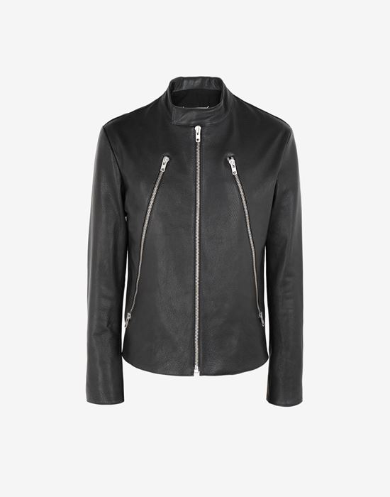MAISON MARGIELA Leather sports jacket Leather Jacket [*** pickupInStoreShippingNotGuaranteed_info ***] f