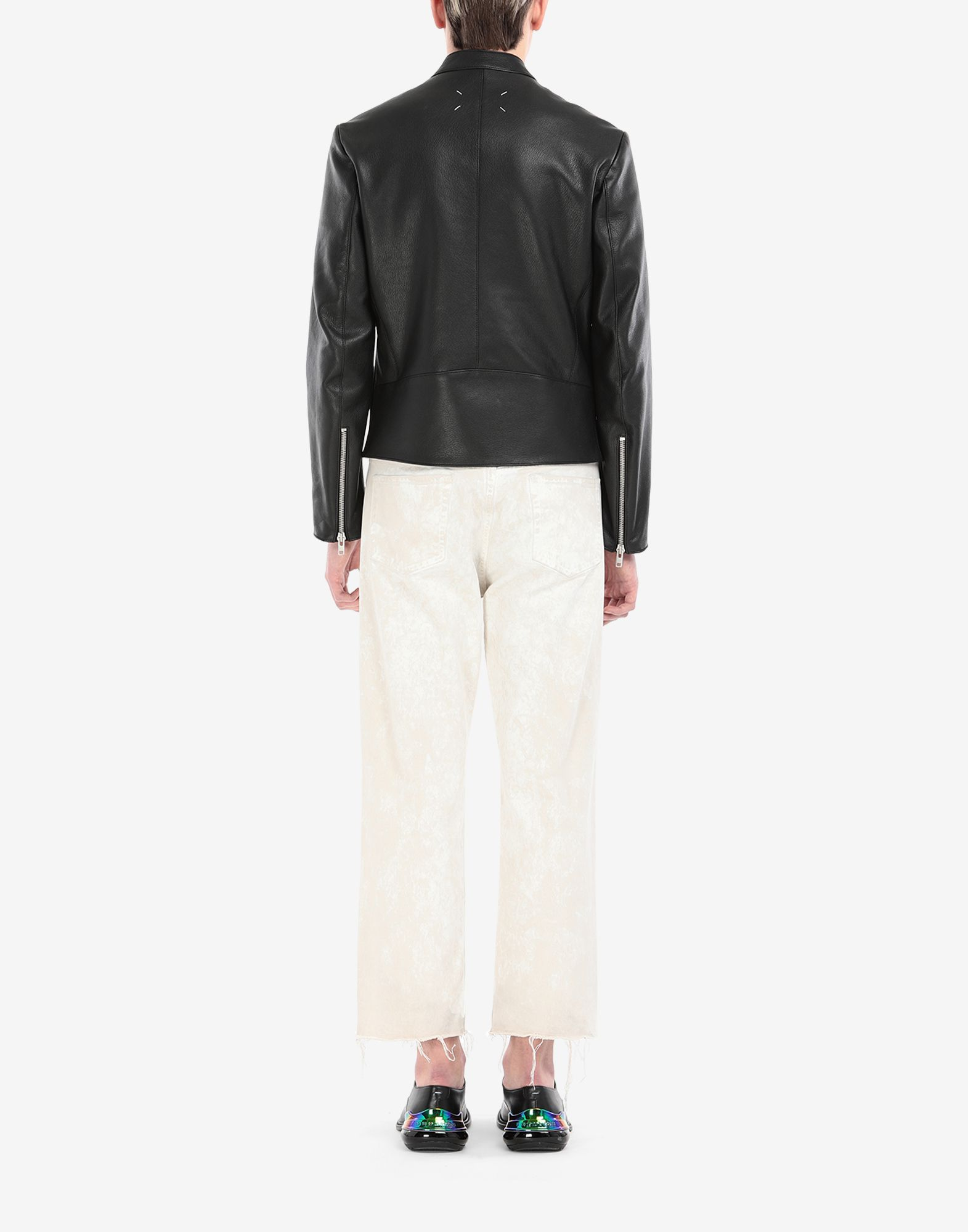 MAISON MARGIELA Leather sports jacket Leather Jacket Man e