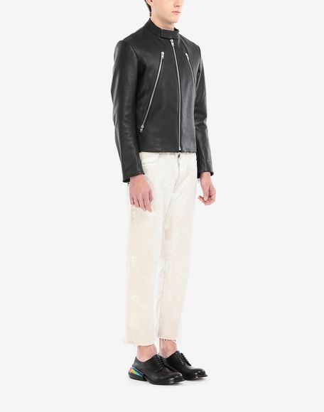 MAISON MARGIELA Leather sports jacket Leather Jacket Man d