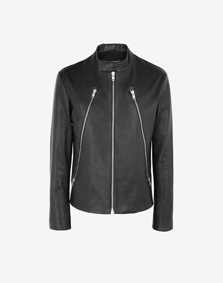 MAISON MARGIELA Leather sports jacket Leather Jacket Man f