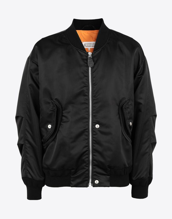 MAISON MARGIELA Two-tone bomber jacket Jacket [*** pickupInStoreShippingNotGuaranteed_info ***] f