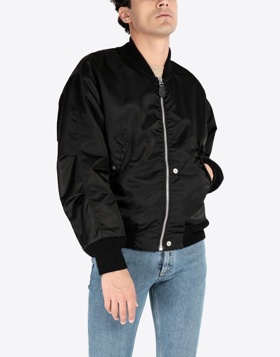 MAISON MARGIELA Two-tone bomber jacket Jacket [*** pickupInStoreShippingNotGuaranteed_info ***] r