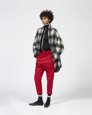 GABRIE plaid coat