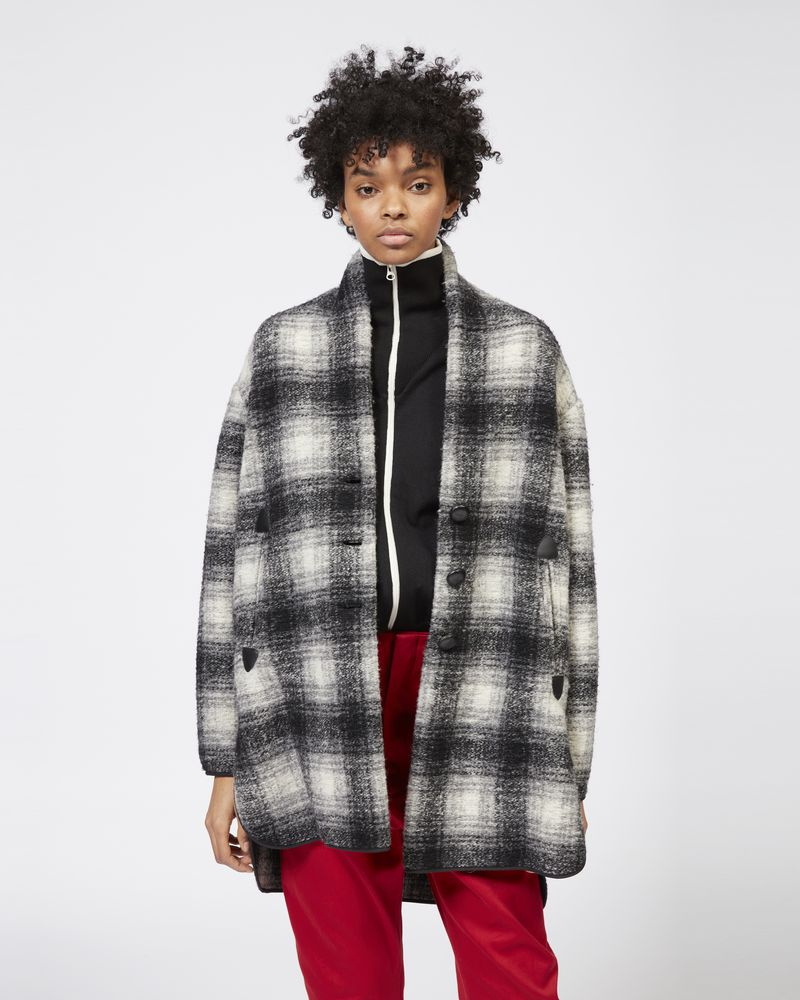 GABRIE checked coat ISABEL MARANT ÉTOILE
