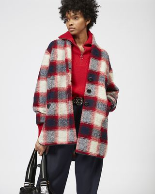 ISABEL MARANT ÉTOILE COAT Woman GABRIE checked coat r