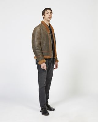 ISABEL MARANT JACKET Man ANDERS shearling jacket r