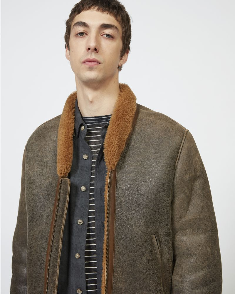ANDERS shearling jacket ISABEL MARANT