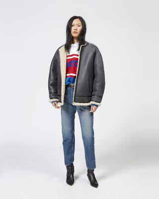 ISABEL MARANT ÉTOILE COAT Woman AXTON shearling coat r