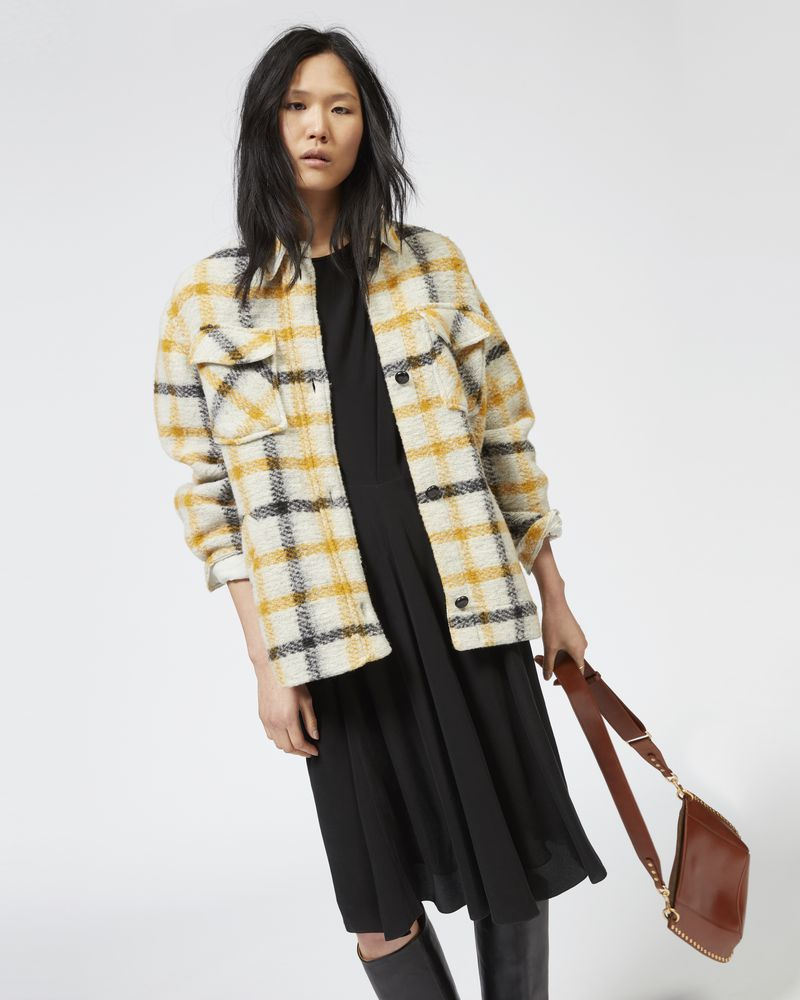 GAST plaid coat ISABEL MARANT ÉTOILE