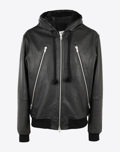 MAISON MARGIELA Jacket Man Leather hoodie jacket f