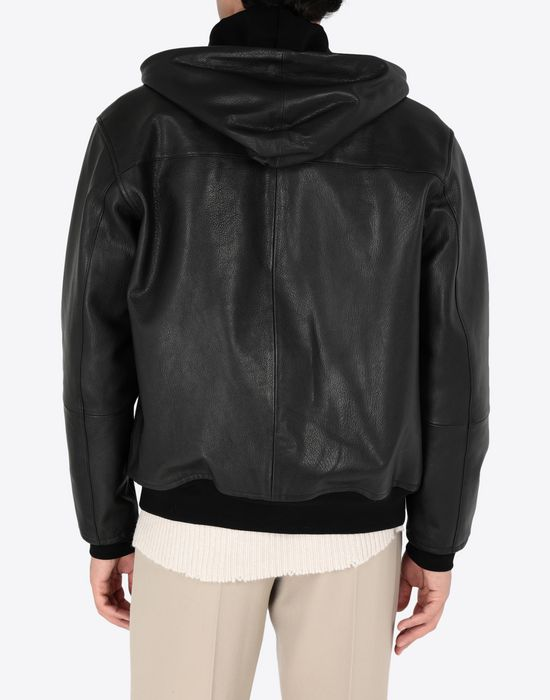 MAISON MARGIELA Leather hoodie jacket Jacket [*** pickupInStoreShippingNotGuaranteed_info ***] e