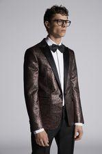 DSQUARED2 Leopard Jacquard Beverly Blazer With Satin Lapel JACKET/BLAZER Man