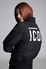 DSQUARED2 Taffettà Nylon Icon Bomber Jacket Kaban Woman